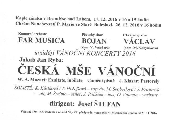 Pozvánka na vánoční koncerty Bojanu 17. a 26. prosince 2016