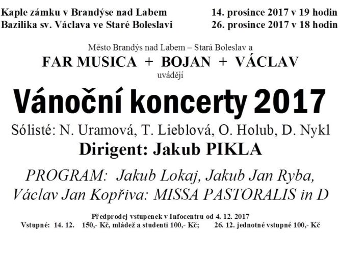 Vánoční koncerty 2017